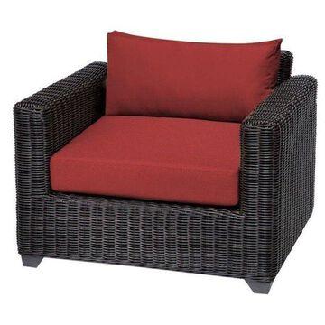 TK Classics Venice Outdoor Wicker Club Chair, Terracotta