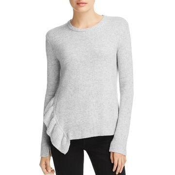 Derek Lam 10 Crosby Womens Ruffled Wool Blend Pullover Sweater