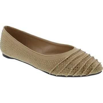 Penny Loves Kenny Women's Aaron Jewel Flat Natural Jeweled Lycra