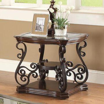Coaster Company Square Dark Brown Metal End Table