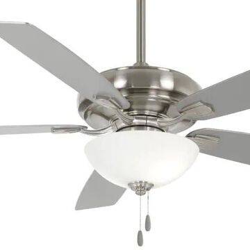 Minka Aire Vital 60-in Brushed Nickel LED Indoor Ceiling Fan with Light (5-Blade)   F552L-BN