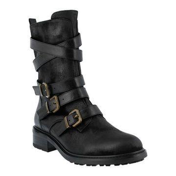 Azura Women's Calmon Boot Black Micro Suede