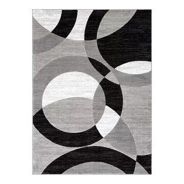 Well Woven Dulcet Bingo Contemporary Geometric Area Rug, Grey, 2X7 Ft