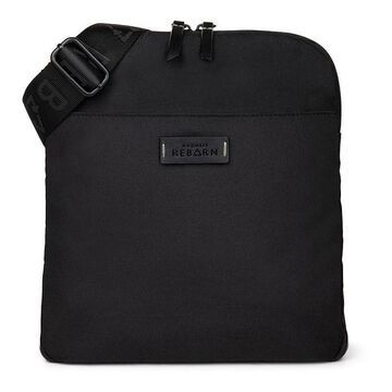 Bugatti Reborn Collection Slim RFID-Blocking Recycled Crossbody Bag, Black