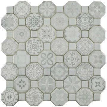 SomerTile 12.25x12.25-inch Tesseract White Ceramic Floor and Wall Tile (13 tiles/14.11 sqft.)