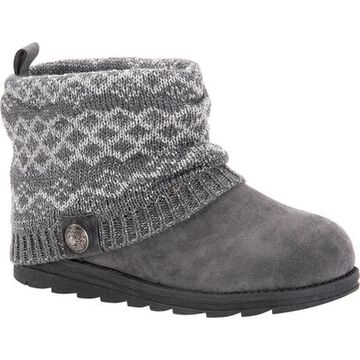 MUK LUKS Women's Patti Boot Medium Grey Acrylic/Polyester/Synthetic