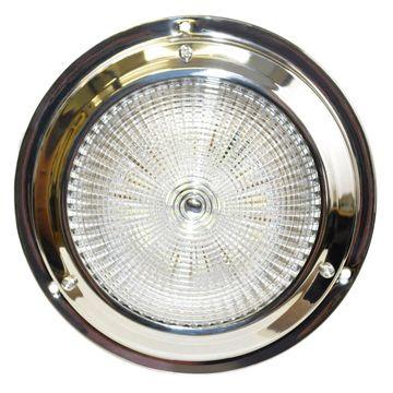SeaSense 50023749 SeaSense 5-1 2in Dome 18 LED White Stainless Steel Light