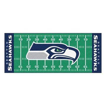 FANMATS Seattle Seahawks Football Field Rug