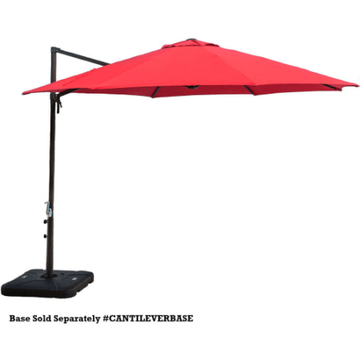 Hanover CANTILEVER Cantilever 11 Foot Tall Aluminum Framed Outdoor Umbrella
