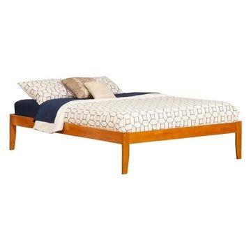 Atlantic Furniture Concord King Platform Bed, Caramel Latte