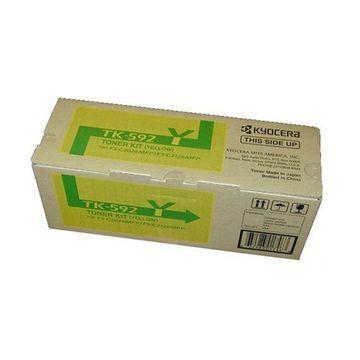 Kyocera 1T02KVAUS0 Model TK-592Y Yellow Toner Kit for C5250DN/C2026MFP/C2126M...