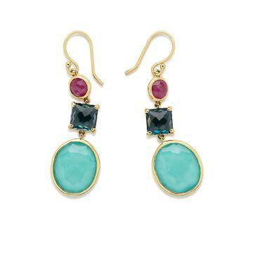18kt gold gemstone earrings