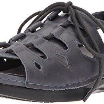 Propet Women's Ghillie Walker Sandal, Blue, 7.5 Wide US