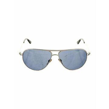 Marko Aviator Sunglasses Silver