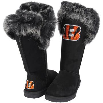 Women's Cuce Black Cincinnati Bengals Devoted Boots