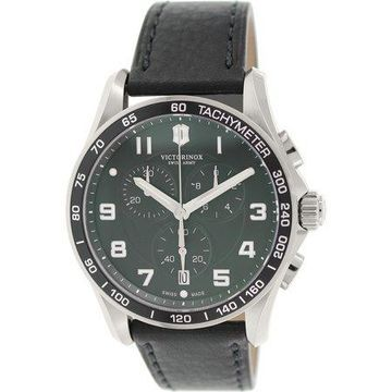 Swiss Army Men's Chrono Classic 241651 Black Leather Swiss Quartz Watch