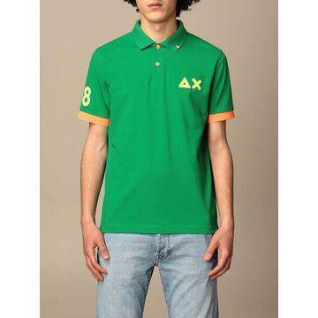 Sun 68 cotton polo shirt with logo