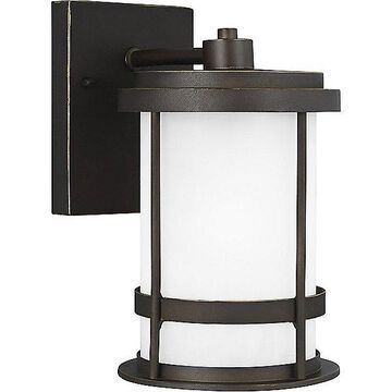 Sea Gull Lighting Wilburn Outdoor Wall Sconce - Color: White - Size: Small - 8590901DEN3-71