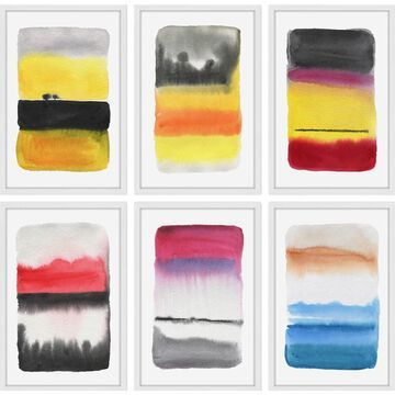 Marmont Hill - Handmade Watercolor Hexaptych