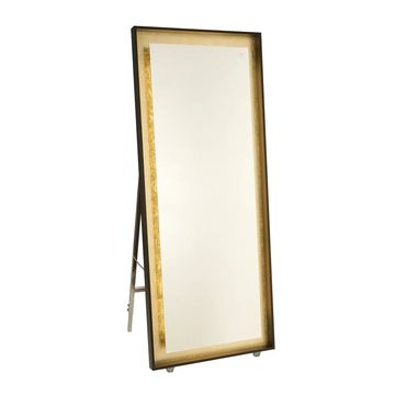Artcraft Lighting Reflections Oil-rubbed and Gold Leaf LED Standing Mirror