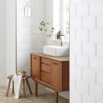 SomerTile 6x12-inch Dobladillo White Ceramic Wall Tile (22 tiles/11.7sqft.)
