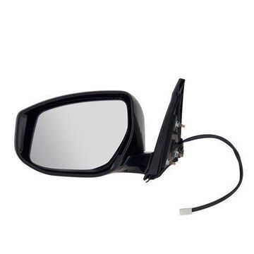 68616N - Fit System Driver Side Mirror for 16-18 Nissan Maxima S Model, black, textured cover, foldaway, Driver Side, Power