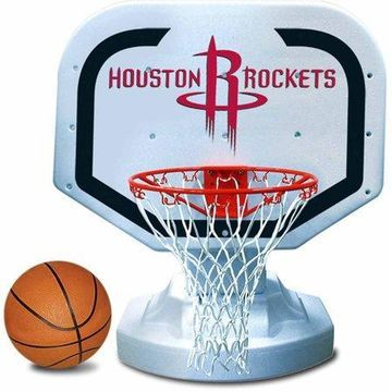 Poolmaster Houston Rockets NBA USA Competition-Style Poolside Basketball Game