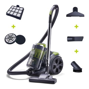 BLACK+DECKER Bagless Canister Vacuum (BDXCAV217 GW ) , Adjustable Suction Multi-Cyclonic Power , For Hard Floors and Carpet