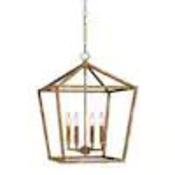 Millennium Lighting Vintage Gold Single Transitional Cage Pendant Light