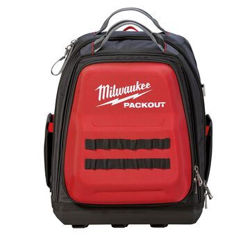 Milwaukee PACKOUT 11.81 in. W X 15.75 in. H Ballistic Nylon Backpack Tool Bag 48 pocket Black/Red 1