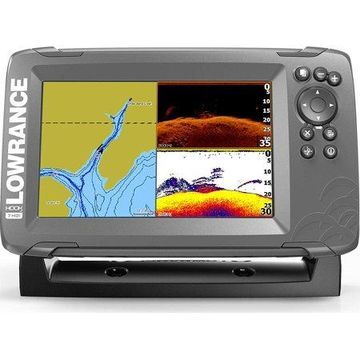 Lowrance HOOK2 7 - 7-inch Fish Finder with SplitShot Transducer and US Inland Lake Maps Installed