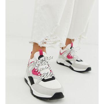 Bershka color block sneakers in multi