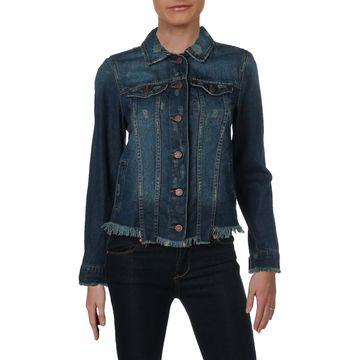 William Rast Womens Juniors Sussex New Core Fall Cotton Denim Jacket