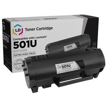LD Compatible Replacement for Lexmark 501U 50F1U00 Extra High Yield Black Toner Cartridge MS510dn, MS610de, MS610dn, MS610dte, MS610dtn