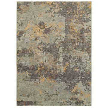 Style Haven Marbled Stone Grey/Gold Area Rug (6'7 x 9'6) - 6'7