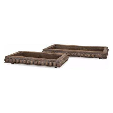 Imax Kelly Wooden Decorative, Set of 2 Tray