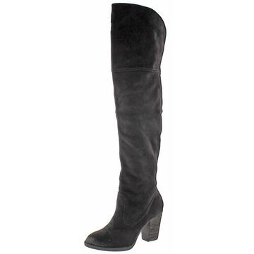 Not Rated Womens Andra Over-The-Knee Boots Faux Suede Riding
