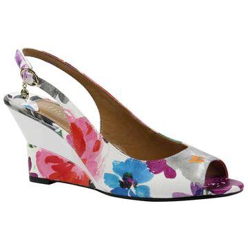 J. Renee Womens Sailaway Open Toe Ankle Strap Wedge