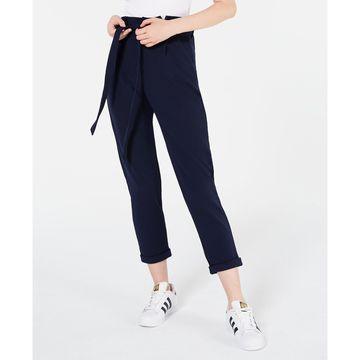 Juniors' Solid Paperbag Pants