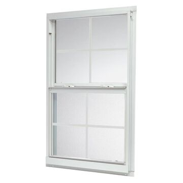 ReliaBilt 46000 Series 31.5-in x 35.5-in x 2.6-in Jamb Between The Glass Aluminum New Construction White Single Hung Window | ASHW3236GRB