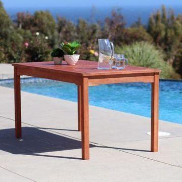 Vifah Classic Wood Table in Natural