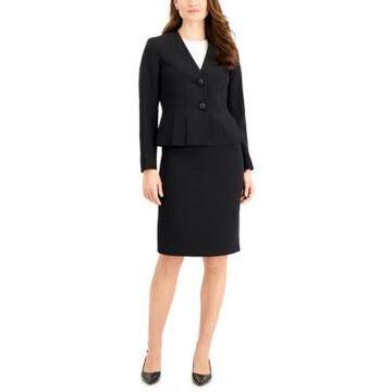 Le Suit Crepe Skirt Suit