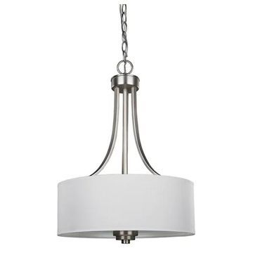 Canarm Pier 3-Light Chandelier, Brushed Pewter