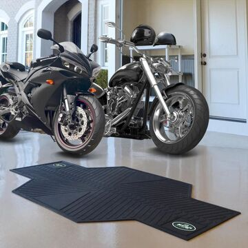 Fanmats New York Jets Black Rubber Motorcycle Mat