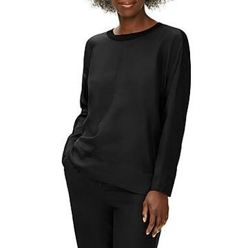 Eileen Fisher Mixed Media Crewneck Top