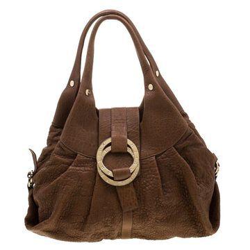 Bvlgari Tan Reduced Leather Chandra Hobo
