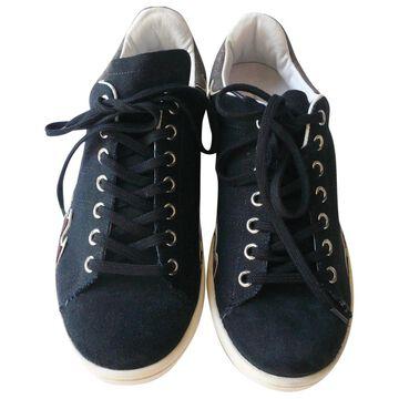 Isabel Marant Etoile Black Cloth Trainers