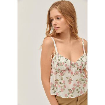 For Love & Lemons Biscotti Floral Tank Top