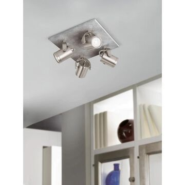 Eglo Praceta 4-Light Ceiling Light (Nickel)