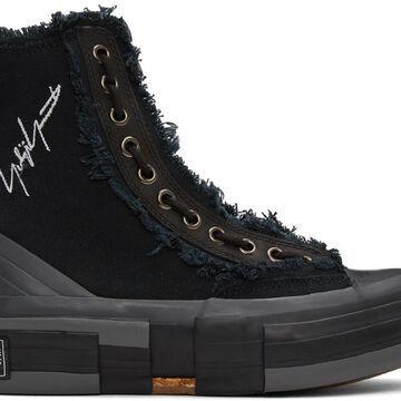 Yohji Yamamoto Black xVESSEL Edition Campus Zipper Sneakers